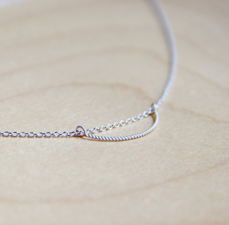 Minimalist Collection - Swan Slim - 925 Silver Handcrafted Necklace in Sterling Silver