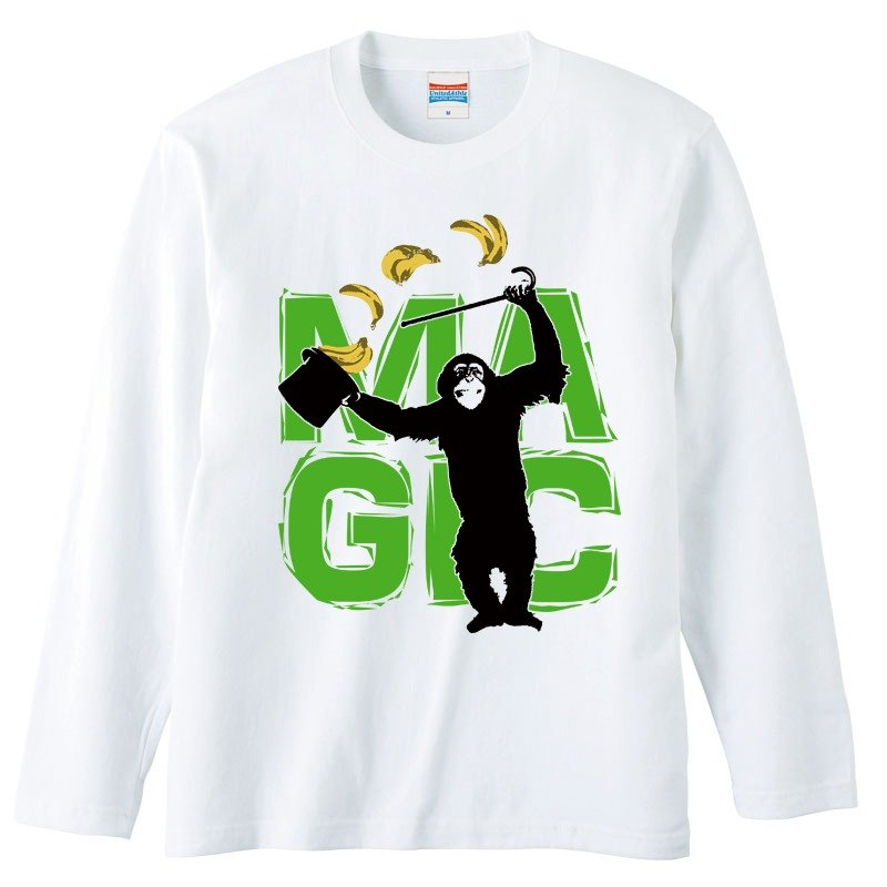 [Long sleeve T-shirt] MAGIC / green