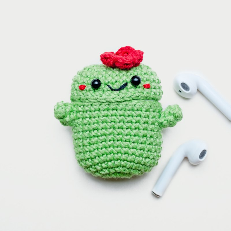 Crochet AirPods Case | The Cactus No.1