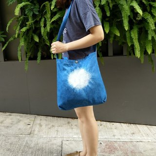 Blue dyed dual-use canvas bag | Sun
