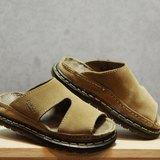 Tsubasa.Y 古著屋 卡其色 001 麂皮馬汀拖鞋,Dr.Martens England