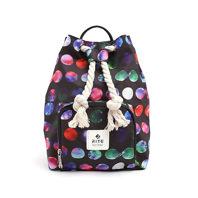 [Summer Special 999] Le Tour Series - Dual-use Boxing Back Backpack - Colored Dots