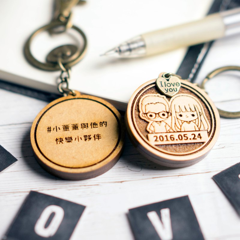 QQ wind guest system couple key ring Valentine's Day gift Tanabata Chinese Valentine's Day