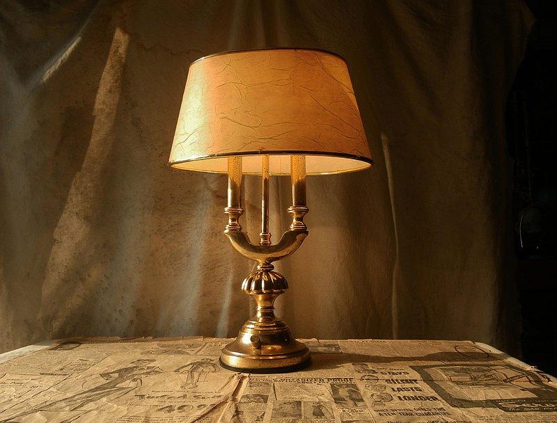 【老時光 OLD-TIME】早期銅製桌燈