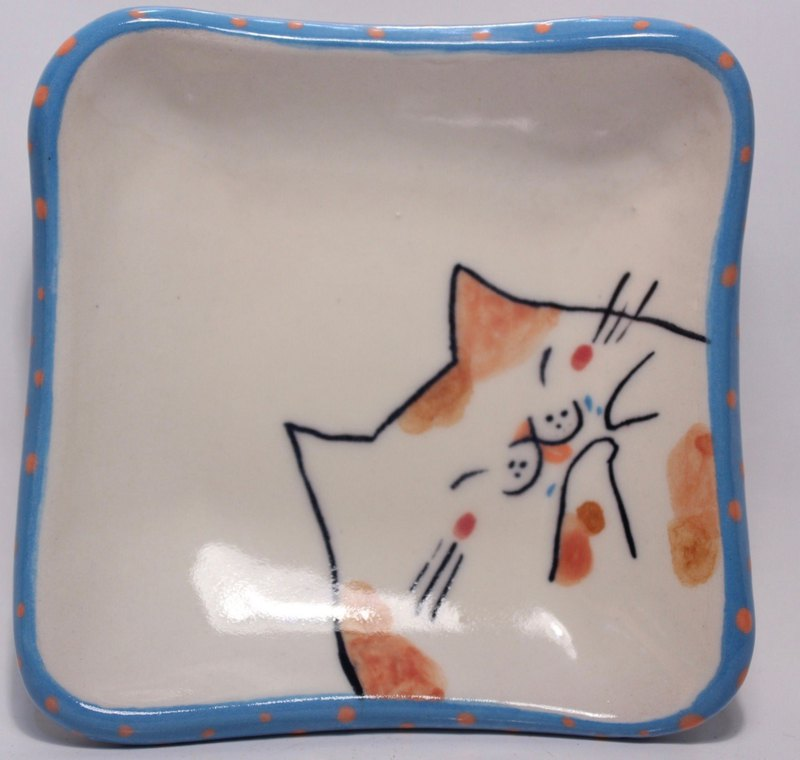 Cat Daily - Painted Cat Dish