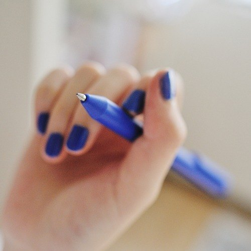 PREMEC NEX blue plastic pen blue 12 into here only the classic blue