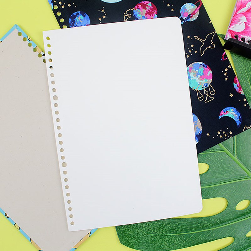 B5/18K 26-hole recycled paper loose-leaf paper (blank) / note inside page / 20 sheets