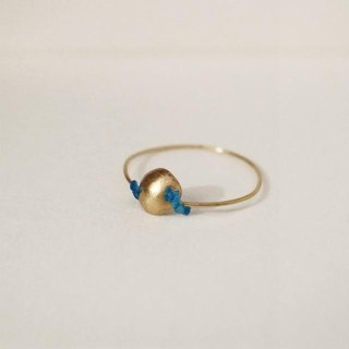 18 karat gold ring: Single (S) Blue