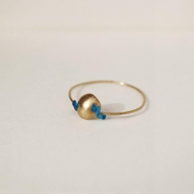 18K Gold Ring Single (S) Blue