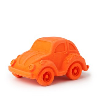 Spain Oli & Carol-Modern Golden Tortoise Car - Orange - Natural Non-toxic Rubber Toy