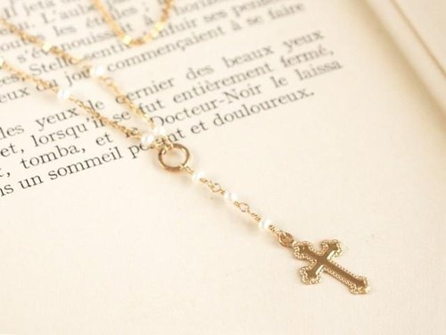 14KGF Rosary Necklace