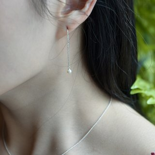 Natural freshwater pearl ear line