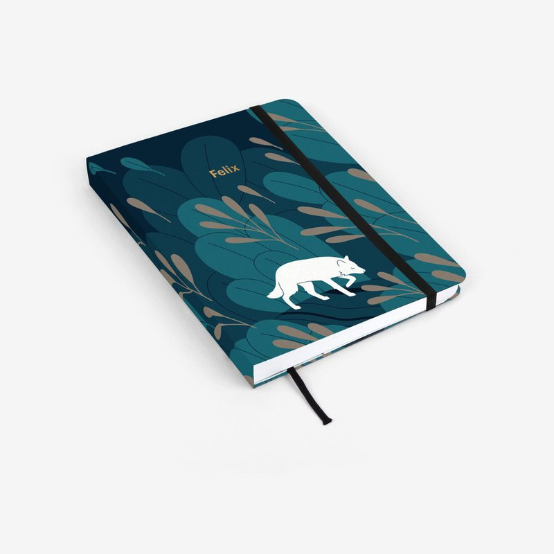 Night Wolf Personalized Threadbound Notebook