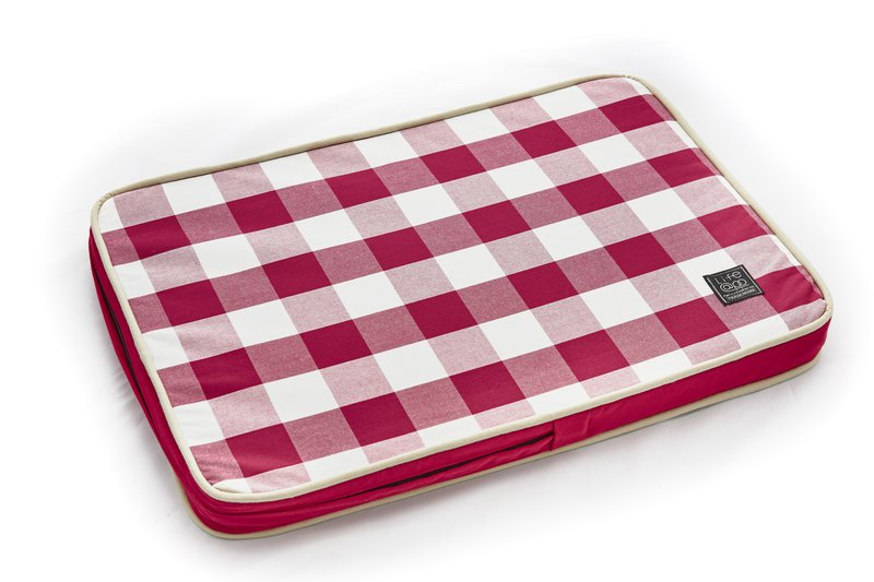 Lifeapp Sleeping Pad Replacement Cloth --- S_W65xD45xH5cm (Red and White) does not contain sleeping mats