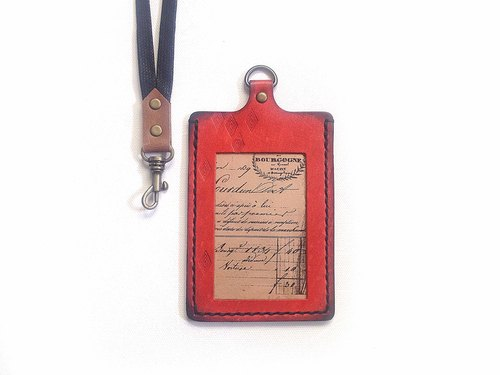 POPO│ spicy red sculpture │. │ Horizontal Leather Card Holder