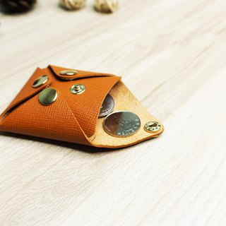 Leather fashion simple four-button coin purse / can put headphones line