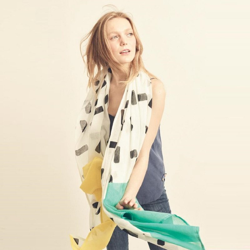 Yellow & Mint Triangle Scarf