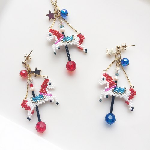 Red Merry-Go-Round earring