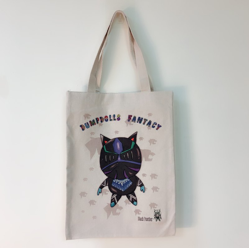 Black Panther Little Knight Canvas Shopping Bag