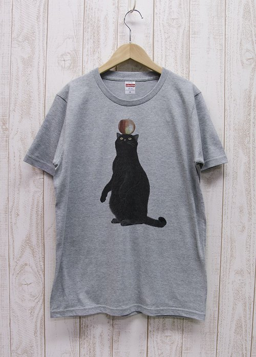 Battle Kuroneko Tee Apple (Heather Gray) / RIT003-GR