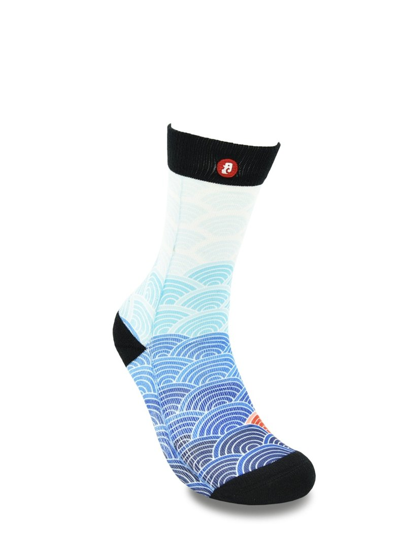Hong Kong Design | Fool's Day stamp socks -Wave Painting 00150