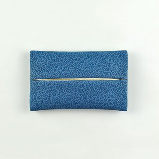 Pocket Tissue Holder for Purse, PU Leather Travel Tissue Holder, Blue