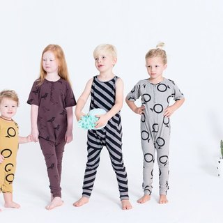 Nordic organic cotton children's clothing infant bag fart ring yellow 6M-18M Mustard Circles