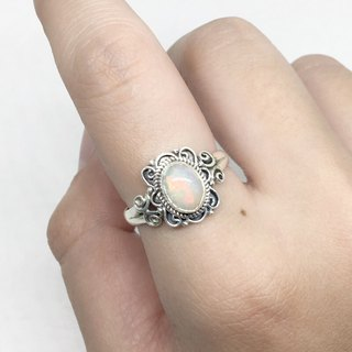 Opal 925 sterling silver butterfly design ring Nepal handmade mosaic production (style 1)
