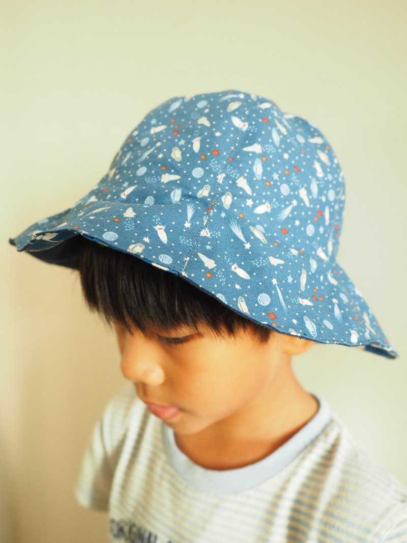 Handmade reversible sun protection cotton hat