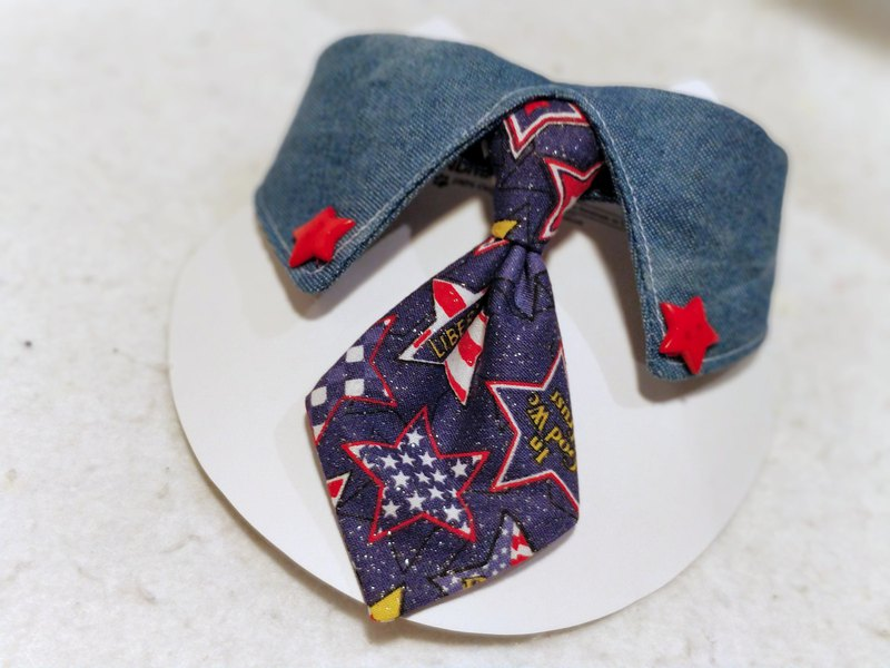 Pet cat dog scarf neckwear denim shirt collar collar