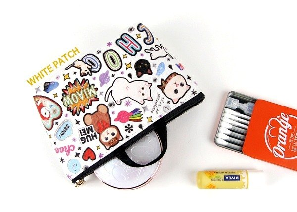 Jetoy, sweet cat bag type Pouch _White patch J1609404