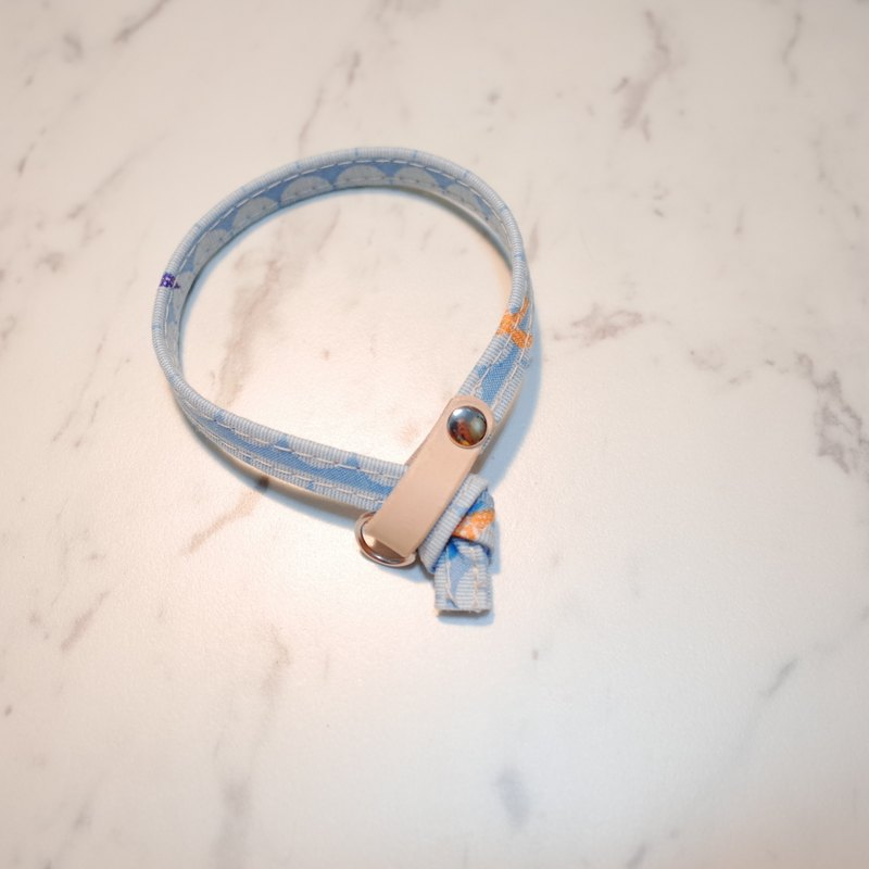 Cat Collars, Bluie wave with seagull_CCJ090415