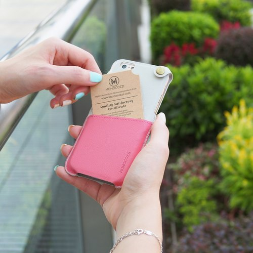 POSH | SOFT LEATHER POUCH FOR IPHONE 6/6S - Pink