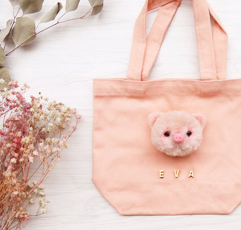 DOMOMO Customized Pink Pig Tote Tote Bag Pet Bag Gift