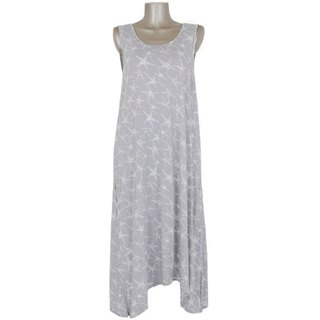 Star fish print sleeveless dress <gray>