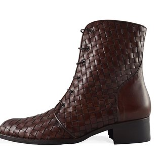 ITA BOTTEGA [Made in Italy] classic woven military boots