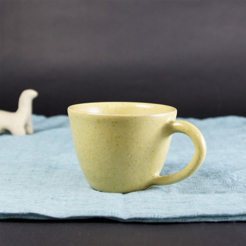 Iron yellow coffee cup, teacup, mug, cup - about 120ml