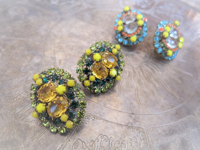 Vintage earrings vintage earrings <ER-RBylgr>