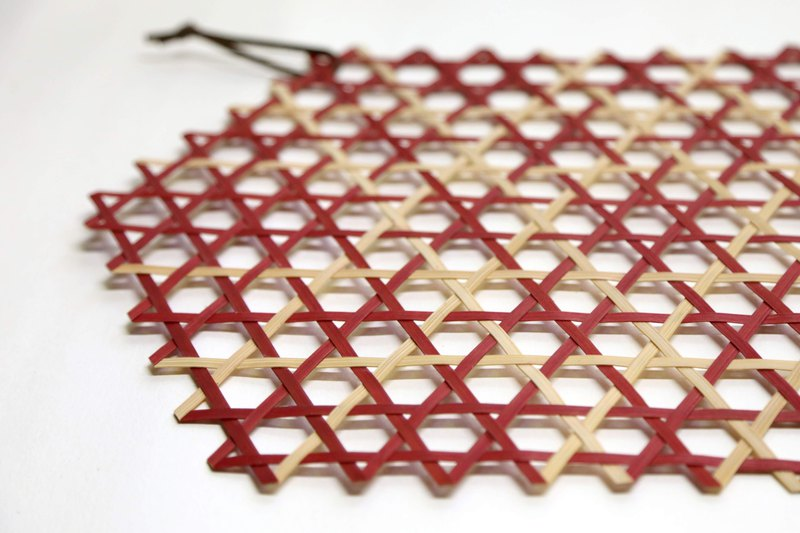 Hexagon pattern - bamboo table mat