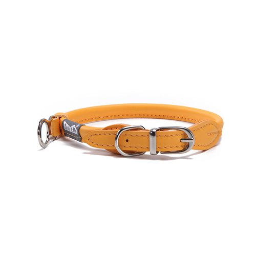 [tail and me] natural concept leather collar warm sunflower orange M