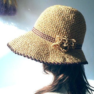 Forget your own hand-made weaving shade / paper Rafi straw hat / straw hat / hand-made cap