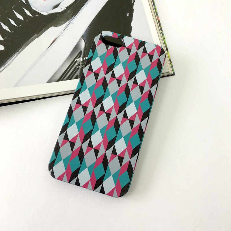 Colourful Geometric Prism pattern cr2 phone case For iPhone and Samsung