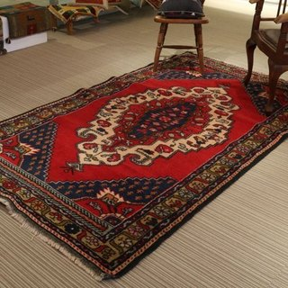 Handmade carpet rug traditional design turkish wool 250×145cm