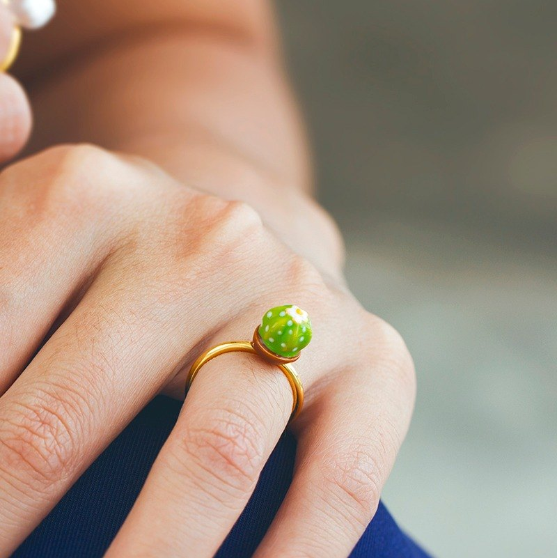 Cactus Ring in Brass - Free Size