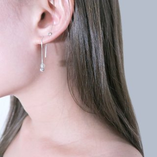 GOLDEN STONE Venice Long Chain Earrings (Small) - 925 Sterling Silver Natural Stone Earrings