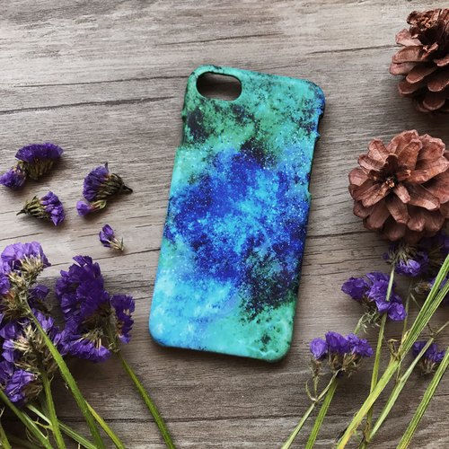 Blue Green Galaxy. Matte Case( iPhone, HTC, Samsung, Sony, LG, OPPO)