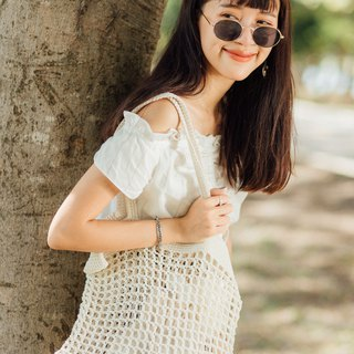 White Nadia Crochet Bag
