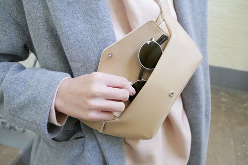 Sunglasses chest bag / waist bag / shoulder bag - Beige / Birthday Gifts