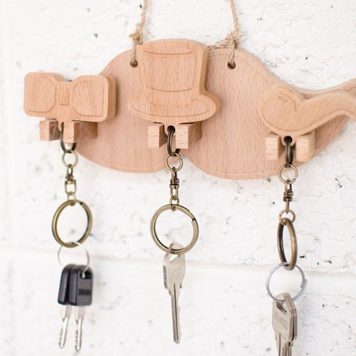Gentleman object ┇ custom key ring hanging version