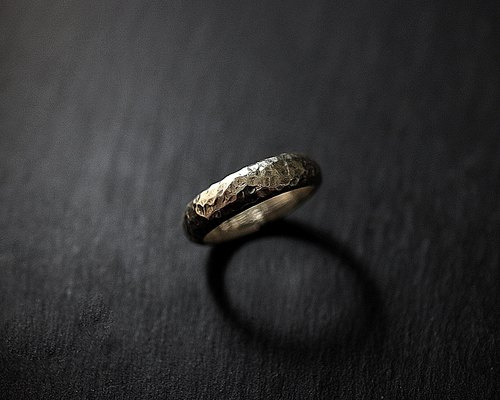 Sterling Silver Irregular Mapping Ring Mirror